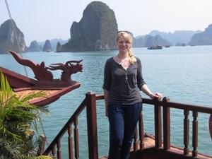 Landschaft in der Bai Tu Long Bay