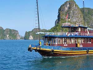 Boot in der Ha Long Bucht