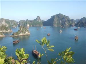 Ausblick über die Ha Long Bucht