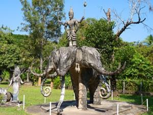 Der Buddhapark in der Nähe von Vientiane ist ein beliebtes Ausflugsziel