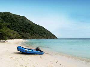 Ort der Entspannung auf Con Dao