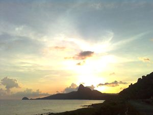 Abendstimmung auf der Insel Con Dao