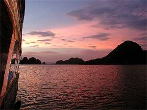 Boot in der Halong-Bay