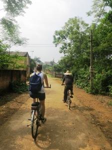 Fahrradtour durch kleine Dörfer