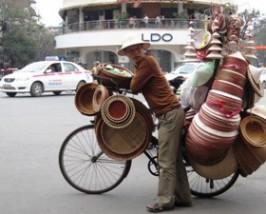 Radfahrer in Hanoi
