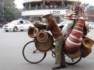 Hanoi Ausflüge: Radfahrer in Hanoi