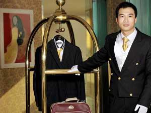 Freundlicher und zuvorkommender Service in der Hanoi Altstadt