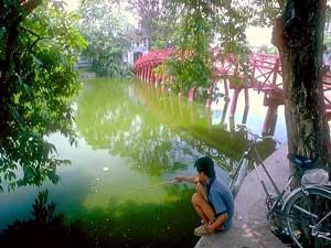 der Hoan Kiem See in Hanoi