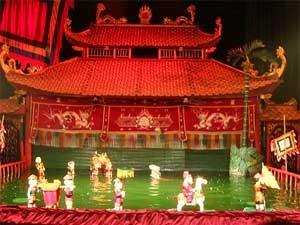 Vietnam mit Kindern: Wasserpuppentheater