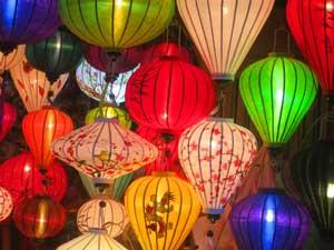 Lampions in Hoi Ans Straßen