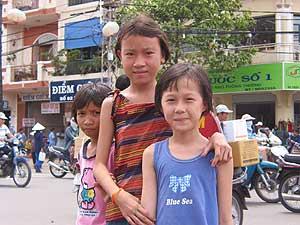 nette Bekanntschaften auf Saigons Straßen