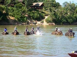 Einen Tag ein Elefantenpfleger in Laos sein