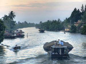 Das Treiben auf dem Mekong bietet viele tolle Fotomotive