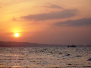 Den Sonnenuntergang genießen