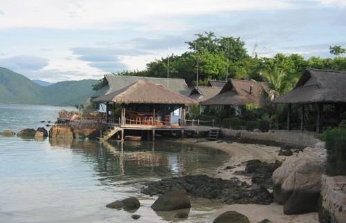 Restaurant auf der Palmeninsel