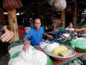 Verkäufer auf dem Markt