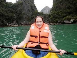 mit dem Kayak durch die Lan Ha Bucht