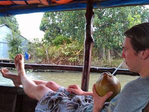 Von Vietnam nach Kambodscha: Entspannt auf dem Mekong