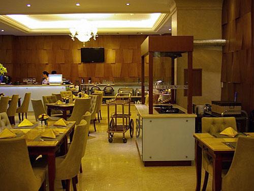 Der Frühstücksraum des Saigon Hotels