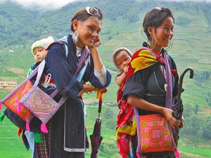 Bergstammfrauen von Sapa