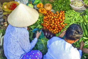 Asiatische Märkte sind ein Fest für die Augen