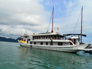 Dschunke in der Halong Bay