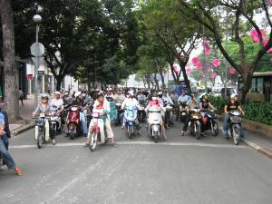Verkehrschaos in Saigon
