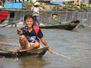 Fotoshooting im Mekong Delta