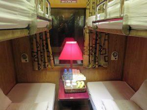Abteil im Nachtzug nach Sapa
