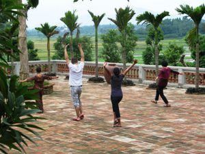 Vietnamesische Morgengymnastik