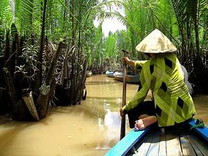 Fahrt über die Nebenflüsse des Mekongs