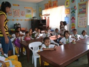 Schulklasse auf Cebu