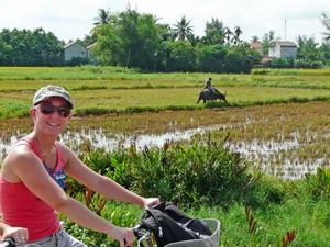 Vietnam mit Kindern: Fahrradtour bei Hoi An