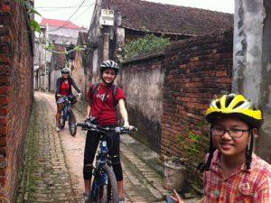 Vietnam mit Kindern: Fahrradtour bei Hanoi