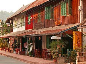 Straßenbild von Luang Prabang
