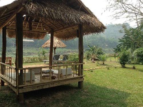 Garten der Upgrade-Unterkunft in Luang Prabang