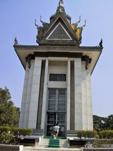 Monument der Killing Fields in Phnom Penh