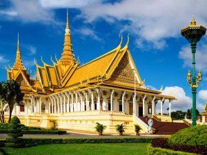 Der Royal Palace in der Hauptstadt von Kambodscha - Phnom Penh