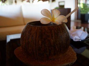Erfrischung Kokosnuss im Hotel Vietnam