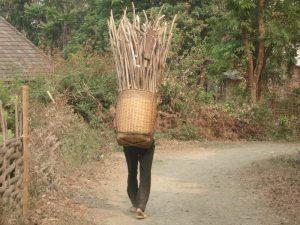 Korb Rucksack in Vietnam