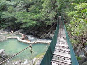 Brücke im Rincon Nationalpark