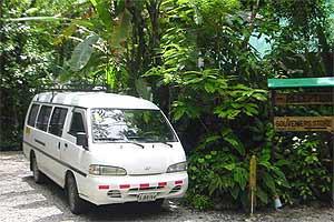 Ein typischer Shuttlebus in Costa Rica