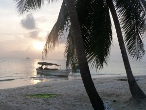 Der Sonnenuntergang auf den San Blas Inseln