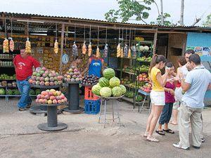 Ein Marktstand in San José
