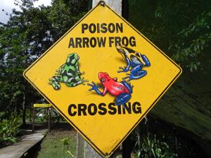 Auch die Straßenschilder sind in Costa Rica exotisch