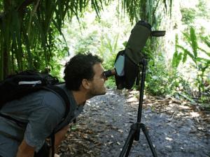 Tiere im Monteverde Nationalpark besser mit dem Teleskop sehen