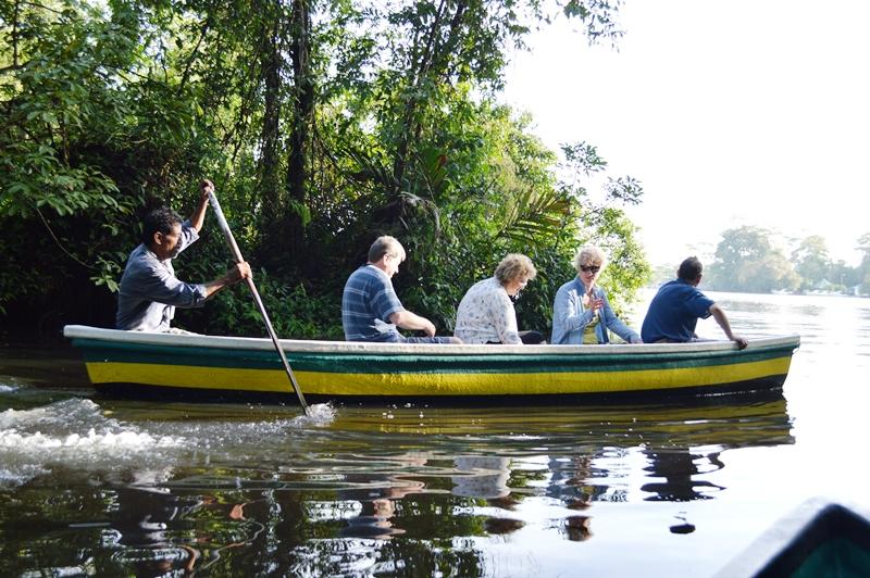 Tierbeobachtung vom Kanu in Tortuguero