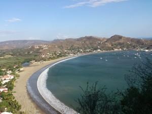 Lohnender Ausblick auf San Juan del Sur nach einer Wanderung