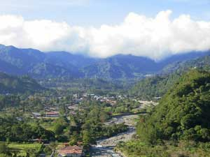 Aussicht auf Berge bei Boquete in Panama