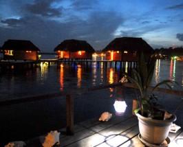 Romantische Abendstimmung auf den Bocas